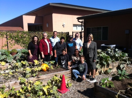 Principal Perez, Mr. Kriss, students, and visitors from CalRecycle and the City of Chula Vista