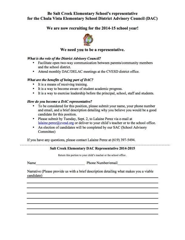 DAC Parent Letter 2014-2015