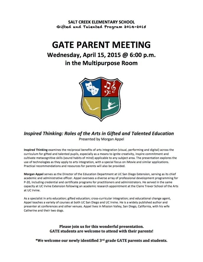 GATE Parent Mtg. 4-22-15