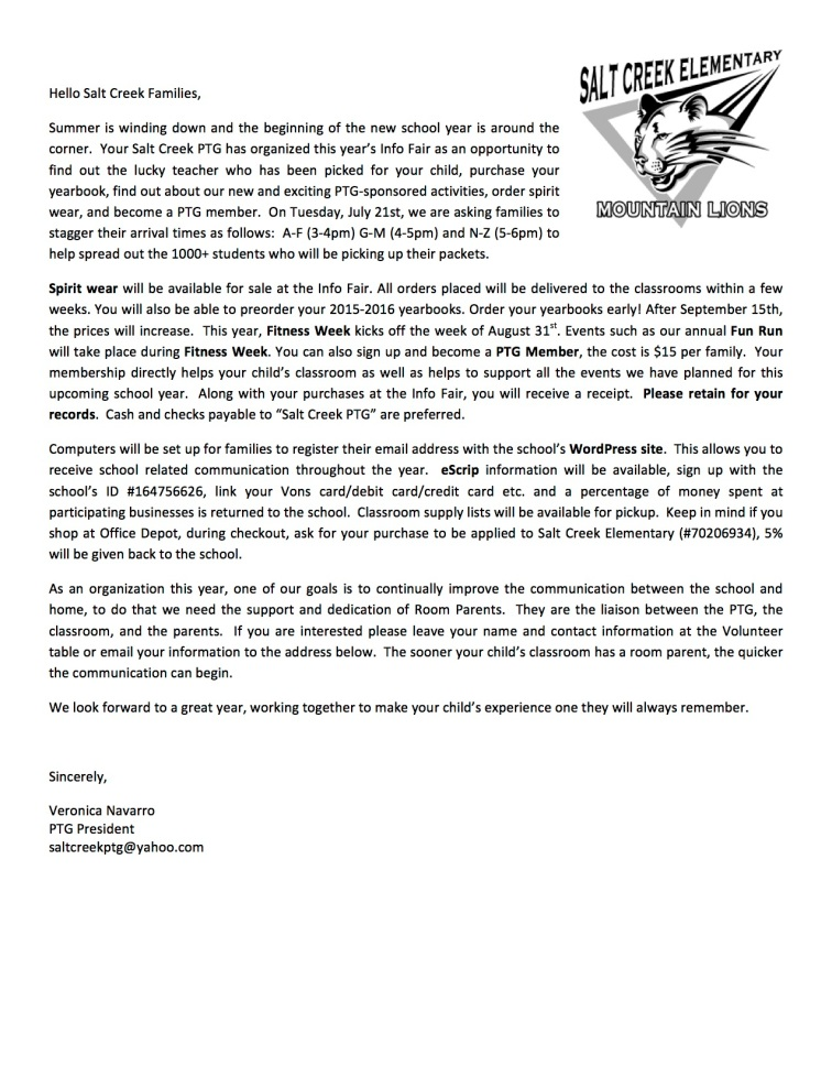 Salt Creek Info Fair Letter 2015-2016