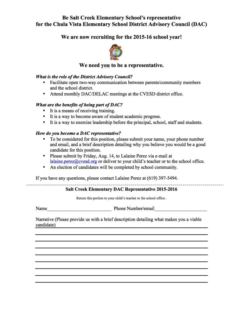 DAC Parent Letter 2015-2016