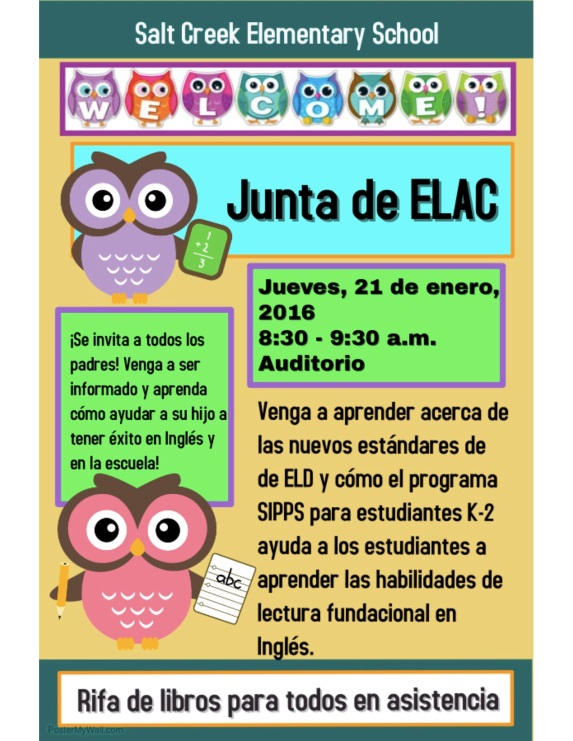 ELAC January 2016 Espanol