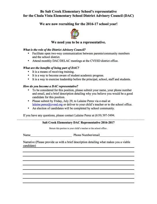 DAC Parent Letter 2016-2017