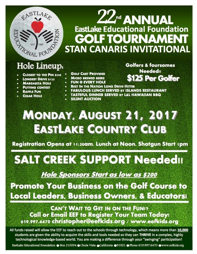 Golf Flyer 2017- Salt Creek