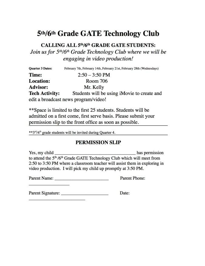 Tech club flyer